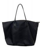 ()の古着「幾何学ナイロントートバッグ」|ブラック