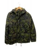 ()の古着「カモフラキルティングジャケット」 オリーブ