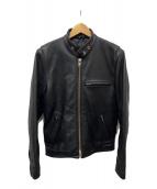 ()の古着「シングルレザーライダースジャケット」 ブラック
