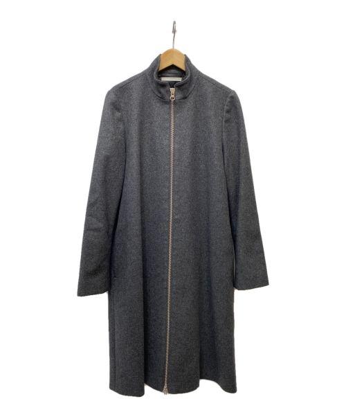 MM6 Maison Margiela(エムエムシックス メゾン マルジェラ)MM6 Maison Margiela (エムエムシックス メゾン マルジェラ) ジップウールロングコート グレー サイズ:40の古着・服飾アイテム