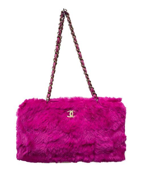 CHANEL(シャネル)CHANEL (シャネル) ファーチェーンショルダーバッグ ショッキングピンクの古着・服飾アイテム