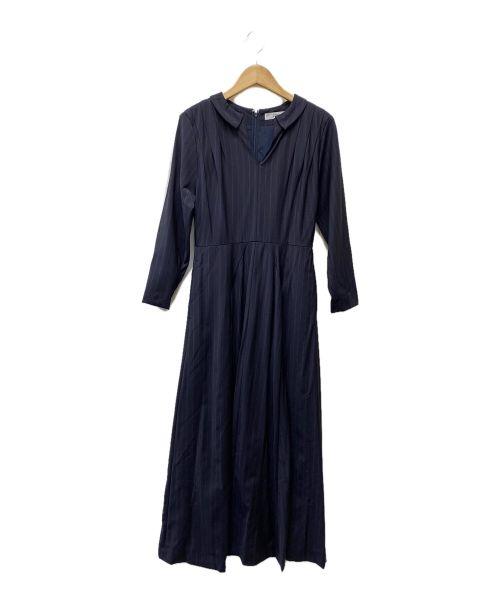 COEL(コエル)COEL (コエル) ファインウールフィット&フレアワンピース ネイビー サイズ:36の古着・服飾アイテム