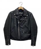 Schott()の古着「レザーライダースジャケット」|ブラック
