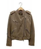ALL SAINTS(オールセインツ)の古着「レザージャケット」|ブラウン