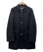 Salvatore Ferragamo()の古着「ガンチーニボタンジャガードコート」|ブラック