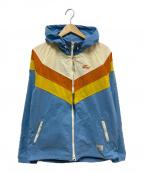 TMT(ティーエムティー)の古着「オニベジダイナイロンタスランパーカー」|ブルー×イエロー