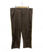 Varde77(バルデセブンティセブン)の古着「ソリッドパジャマパンツ」 ブラウン