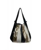 PELLETTERIA VENETA(ペレッテリアベネタ)の古着「タッセルレザーバッグ」|ホワイト×ブラック