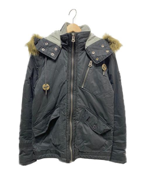 DIESEL(ディーゼル)DIESEL (ディーゼル) ショートモッズコート ブラック サイズ:Sの古着・服飾アイテム