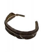 インディアンジュエリー(インディアンジュエリー)の古着「フェザーバングル」|シルバー