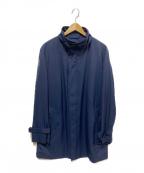 SANYO(サンヨー)の古着「京鴨ダウンスタンドカラーコート」|ネイビー