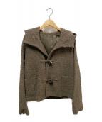 JURGEN LEHL(ヨーガンレール)の古着「サマーウールショートダッフルコート」|ブラウン