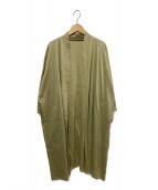 JURGEN LEHL(ヨーガンレール)の古着「ラミーロングカーディガン」|ベージュ