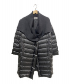 ISSEY MIYAKE(イッセイミヤケ)の古着「リブダウンコート」|ブラック