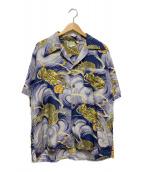 ()の古着「シルクアロハシャツ」|ブルー