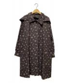 Leilian(レリアン)の古着「プリントプラネットコート」 ブラウン