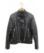 DIESEL BLACK GOLD(ディーゼルブラックゴールド)の古着「カウハイドレザーライダースジャケット」|ブラック