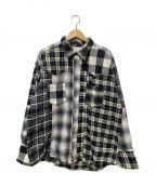 MIYAGIHIDETAKA(ミヤギヒデタカ)の古着「ダブルネルシャツ」|グレー