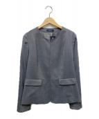 NEWYORKER(ニューヨーカー)の古着「ノーカラージャケット」|グレー