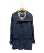 BURBERRY LONDON(バーバリーロンドン)の古着「スタンドカラーコート」|ネイビー