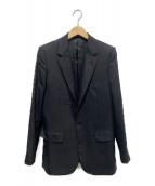 CELINE(セリーヌ)の古着「ライトウールギャバジンロングジャケット」|ブラック