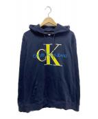 Calvin Klein Jeans(カルバンクラインジーンズ)の古着「ロゴプルオーバーパーカー」|ネイビー