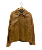Timberland(ティンバーランド)の古着「レザージャケット」|ブラウン