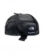 Supreme × THE NORTH FACE(シュプリーム × ザ ノースフェイス)の古着「Leather Roo II Lumbar Pack」|ブラック