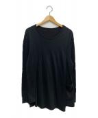 GROUND Y(グランドワイ)の古着「フロントターンバックロングスリーブカットソー」|ブラック