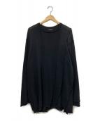 YohjiYamamoto pour homme(ヨウジヤマモトプールオム)の古着「縫い代見せプルオーバーニット」|ブラック
