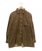 FAT(エフエーティー)の古着「ビッグシルエットコーデュロイシャツ」 ブラウン