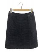 CHANEL(シャネル)の古着「アイコニックシルクインスカート」|ブラック×ネイビー