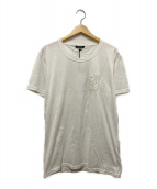 ()の古着「ライオン刺繍Tシャツ」|ホワイト
