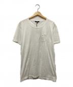 BALMAIN(バルマン)の古着「ライオン刺繍Tシャツ」 ホワイト