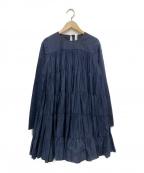 merlette(マーレット)の古着「ロングティアードブラウス」 ネイビー