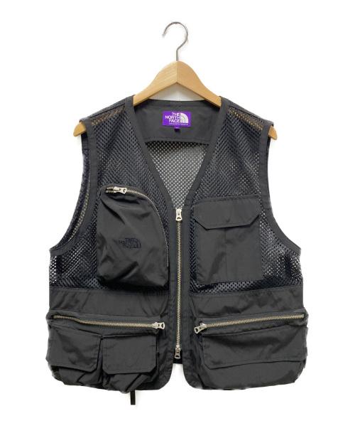 THE NORTHFACE PURPLELABEL(ザノースフェイスパープルレーベル)THE NORTHFACE PURPLELABEL (ザノースフェイスパープルレーベル) メッシュアングラーベスト ブラック サイズ:М Mesh Angler Vestの古着・服飾アイテム
