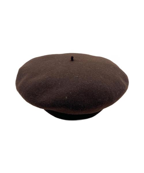 manufacture de berets(マニュファクチュールドゥベレー)manufacture de berets (マニュファクチュールドゥベレー) ウールベレー ブラウン 帽子 フランス製の古着・服飾アイテム