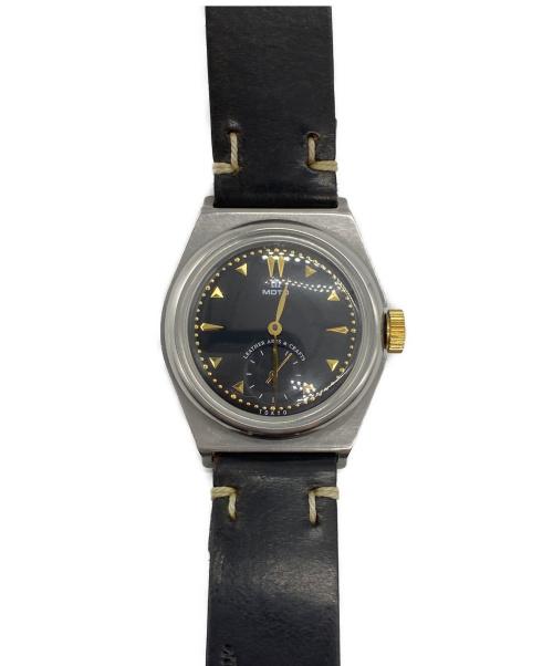 MOTO(モト)MOTO (モト) 腕時計 ブラック クォーツ レザーの古着・服飾アイテム