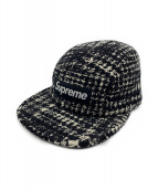 SUPREME(シュプリーム)の古着「ツイードキャンプキャップ」|ホワイト×ブラック