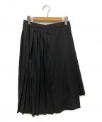 JOURNAL STANDARD(ジャーナルスタンダード)の古着「プリーツラップスカート」|ブラック