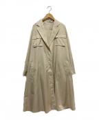 qualite(カリテ)の古着「エアリーオーバーコート」|ベージュ