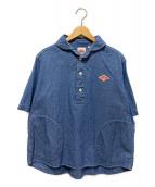 DANTON(ダントン)の古着「プルオーバー半袖シャツ」|ブルー