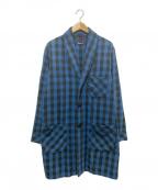 BLUE BLUE(ブルーブルー)の古着「インディゴダイショップコート」|ブルー×ブラック