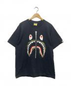 BAPE BY A BATHING APE(ベイプバイアベイシングエイプ)の古着「シャークジッププリントTシャツ」|ブラック