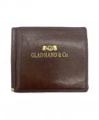GLAD HAND(グラッドハンド)の古着「レザーマネークリップ」 ブラウン