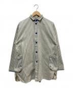 Porter Classic(ポータークラシック)の古着「ストライプカバーオール」|ブルー×ホワイト