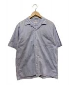 COMOLI(コモリ)の古着「タイプライターオープンカラーシャツ」|ブルー