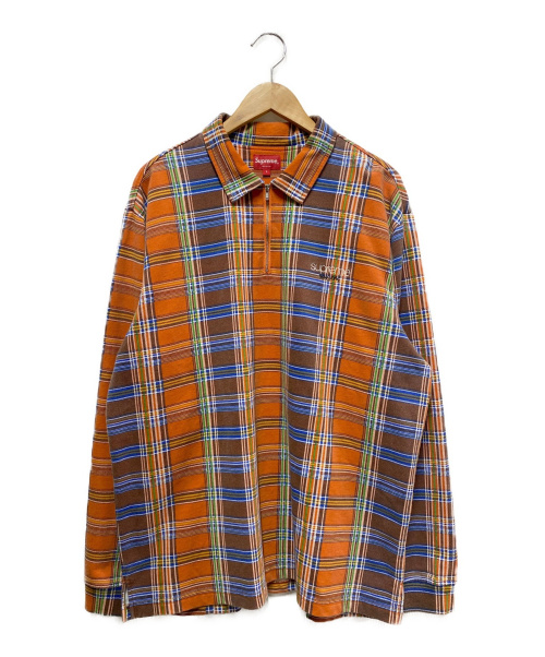SUPREME(シュプリーム)SUPREME (シュプリーム) ハーフジップシャツ オレンジ サイズ:Lの古着・服飾アイテム