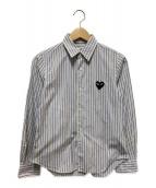 ()の古着「ストライプシャツ」|ブルー×ホワイト