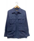 ()の古着「ツイルミリタリートロピカルジャケット」|ネイビー